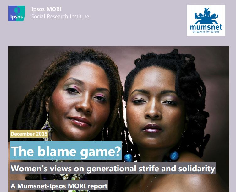 Women's views on generational strife and solidarity