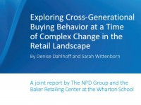 Consumer buying data based on receipts from Millennials, Generation X, and Boomers
