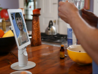 Kubi Telepresence Robot Tablet Mount for Seniors