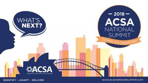 ACSA National Summit 2018 @ International Convention Centre, Sydney (ICC)